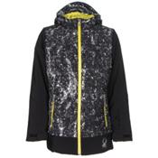 Spyder Moxie Girls Ski Jacket, Black-Sequins Black Print-Acid, medium
