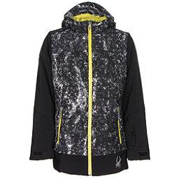 Spyder Moxie Girls Ski Jacket, Black-Sequins Black Print-Acid, 256