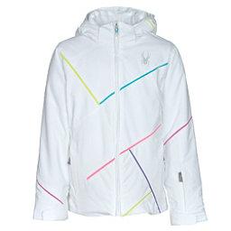 Spyder Tresh Girls Ski Jacket, White-Bluebird-Multi Color, 256