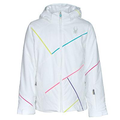 Spyder Tresh Girls Ski Jacket, White-Bluebird-Multi Color, viewer
