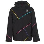 Spyder Tresh Girls Ski Jacket, Black-Bryte Bubblegum-Multi Co, medium