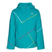 Spyder Tresh Girls Ski Jacket, Bluebird-Acid-Voila, medium