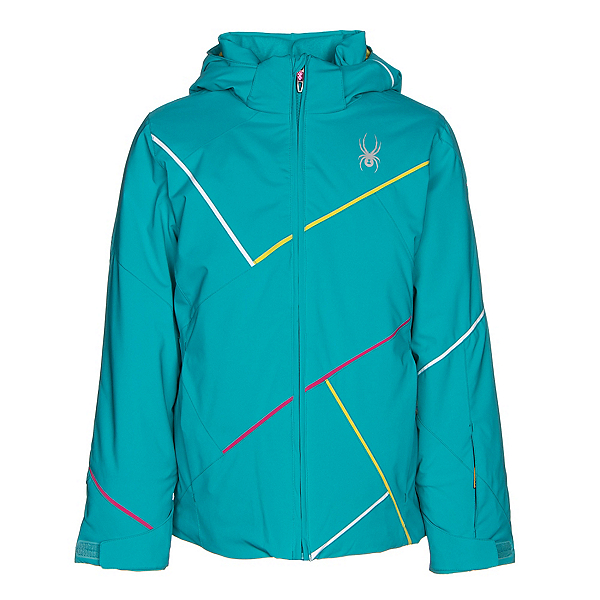 Spyder Tresh Girls Ski Jacket, Bluebird-Acid-Voila, 600