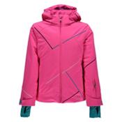 Spyder Tresh Girls Ski Jacket, Bryte Bubblegum-Bluebird-Acid, medium