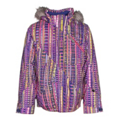 Spyder Lola Girls Ski Jacket, Harmony Acid Print-Bryte Bubbl, medium