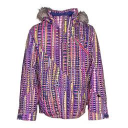 Spyder Lola Girls Ski Jacket, Harmony Acid Print-Bryte Bubbl, 256