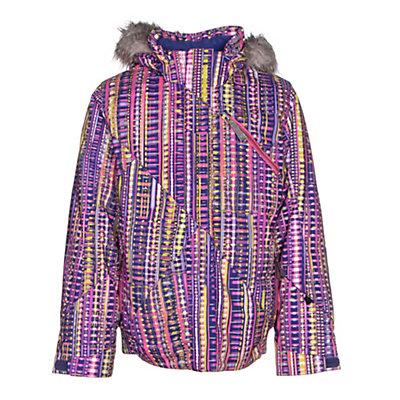 Spyder Lola Girls Ski Jacket, Harmony Acid Print-Bryte Bubbl, viewer
