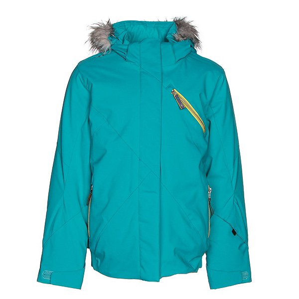Spyder Lola Girls Ski Jacket, Bluebird-Acid, 600