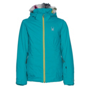 Spyder Eve Girls Ski Jacket, Bluebird-Acid, medium