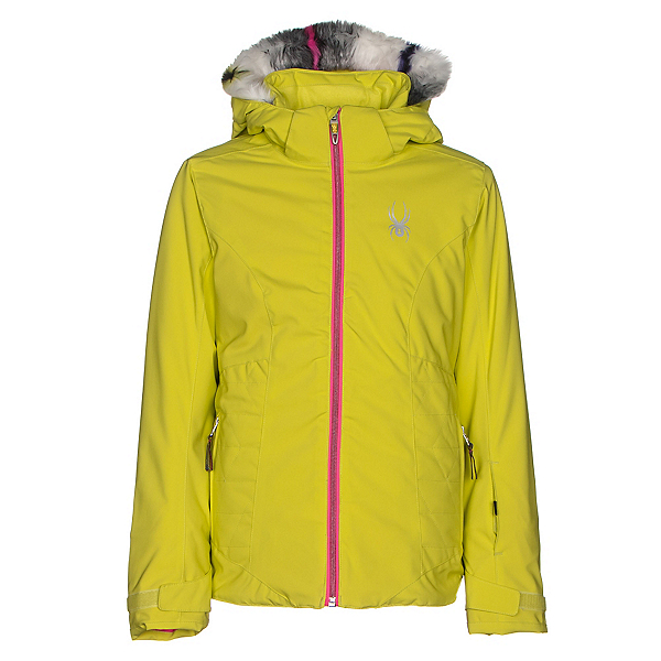 Spyder Eve Girls Ski Jacket, Acid-Bryte Bubblegum, 600