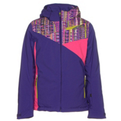 Spyder Project Girls Ski Jacket, Pixie-Harmony Acid Print-Bryte, medium