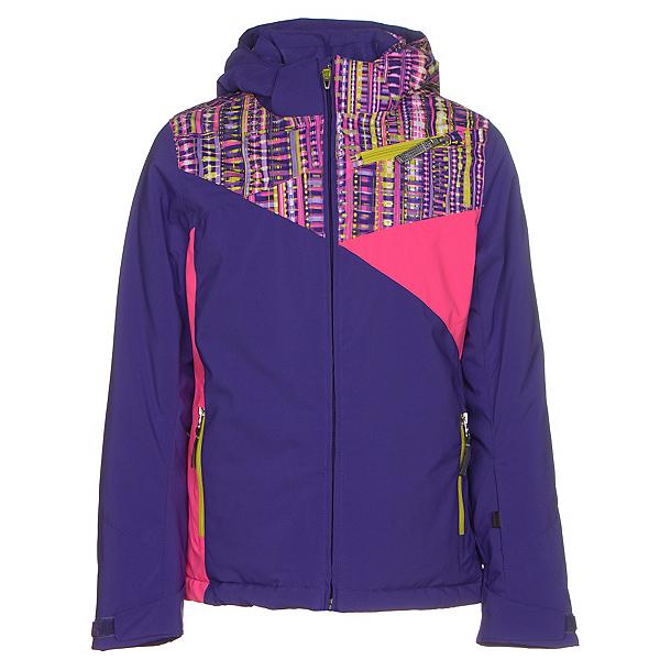 Spyder Project Girls Ski Jacket (Previous Season), Pixie-Harmony Acid Print-Bryte, 600