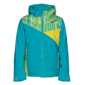 Spyder Project Girls Ski Jacket, Bluebird-Harmony Bluebird Prin, medium