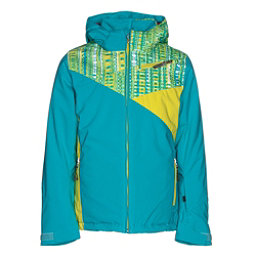Spyder Project Girls Ski Jacket, Bluebird-Harmony Bluebird Prin, 256