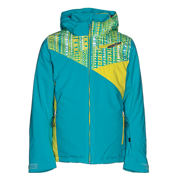 Spyder Project Girls Ski Jacket, Bluebird-Harmony Bluebird Prin, 600