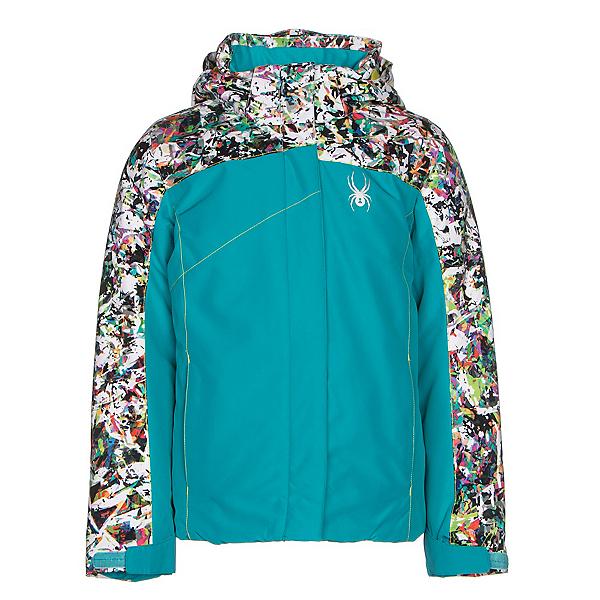 Spyder Dreamer Girls Ski Jacket, Bluebird-Kaleidoscope Print-Ac, 600