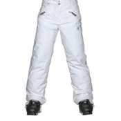 Spyder Vixen Athletic Girls Ski Pants, White, medium