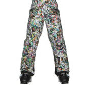 Spyder Vixen Athletic Girls Ski Pants, Kaleidoscope White Print, medium