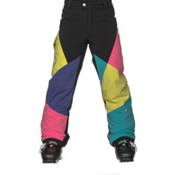 Spyder Mimi Girls Ski Pants, Black-Multi Color, medium