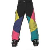 Spyder Mimi Girls Ski Pants, Black-Multi Color, medium
