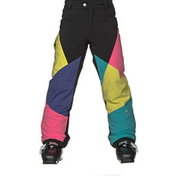 Spyder Mimi Girls Ski Pants, Black-Multi Color, 256