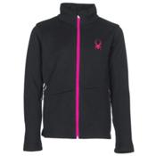 Spyder Endure Girls Sweater, Black-Bryte Bubblegum, medium