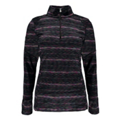 Spyder Bocca T-Neck Kids Midlayer, Black-Multi Color, medium