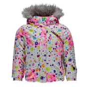 Spyder Bitsy Lola Toddler Girls Ski Jacket, Party Multi Print-Bryte Bubble, medium