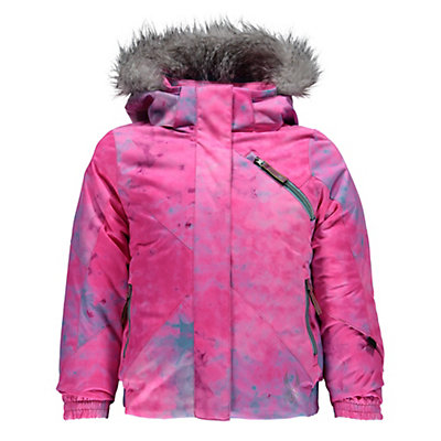 Spyder Bitsy Lola Toddler Girls Ski Jacket, Morning Sky Freeze Print-Freez, viewer
