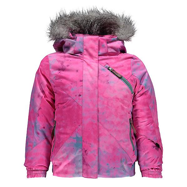 Spyder Bitsy Lola Toddler Girls Ski Jacket, Morning Sky Freeze Print-Freez, 600
