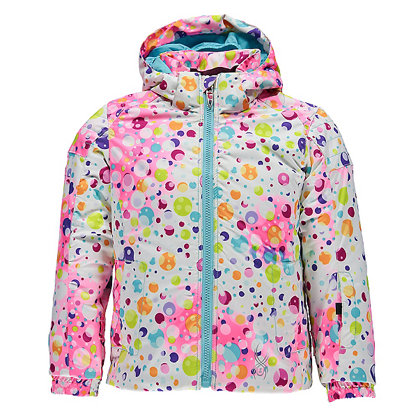 Spyder Bitsy Glam Toddler Girls Ski Jacket (Previous Season), Party Multi Print-Freeze, 600