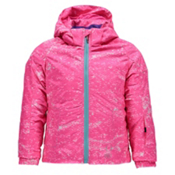 Spyder Bitsy Glam Toddler Girls Ski Jacket, Sequins Bryte Bubblegum Print-, medium