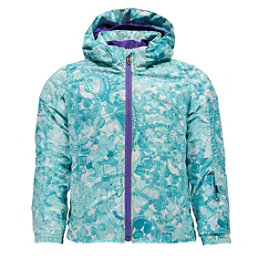 Spyder Bitsy Glam Toddler Girls Ski Jacket (Previous Season), Tacey Freeze Print-Iris, 256