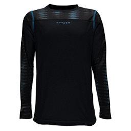 Spyder Havoc Long Sleeve Tech Kids Long Underwear Top, Black-Space Armor El Blue Prin, 256