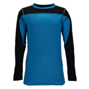 Spyder Havoc Long Sleeve Tech Kids Long Underwear Top, Concept Blue-Black, medium