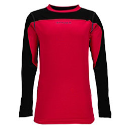 Spyder Havoc Long Sleeve Tech Kids Long Underwear Top, Red-Black, 256