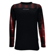Spyder Havoc Long Sleeve Tech Kids Long Underwear Top, Black-Space Armor Formula Prin, medium
