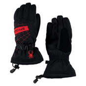 Spyder Overweb Kids Gloves, Black-Red, medium