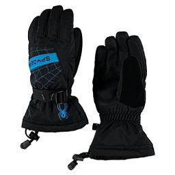 Spyder Overweb Kids Gloves, Black-Electric Blue, 256