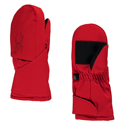 Spyder Mini Cubby Toddlers Mittens, Red-Black, viewer