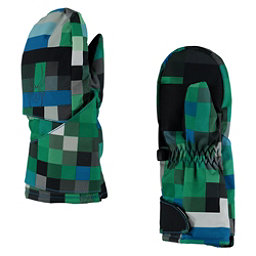 Spyder Mini Cubby Toddlers Mittens, Pixel Electric Blue Print-Blac, 256