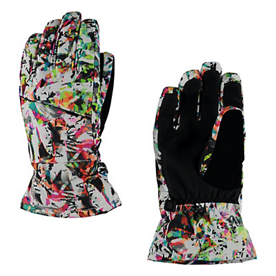 Spyder Astrid Girls Gloves, Kaleidoscope White Print, viewer