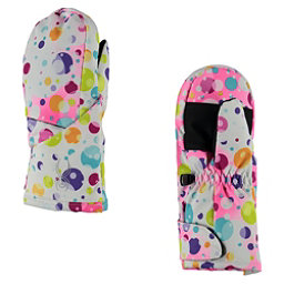 Spyder Bitsy Cubby Toddlers Mittens, Party Multi Print-Silver, 256