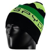 Spyder Duo Reversible Kids Hat, Black-Bryte Green-Jungle, medium