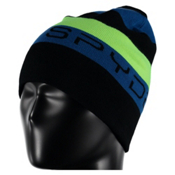 Spyder Duo Reversible Kids Hat, Black-Concept Blue-Bryte Green, medium