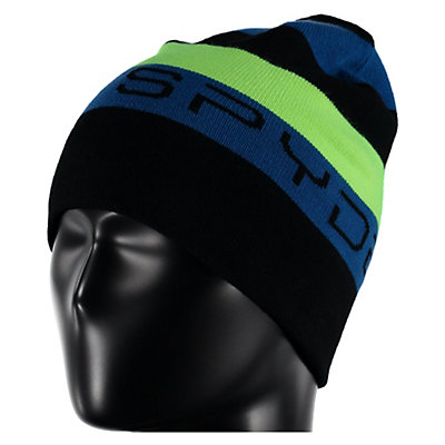 Spyder Duo Reversible Kids Hat, Black-Bryte Green-Jungle, viewer