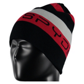 Spyder Duo Reversible Kids Hat, Black-Red-Cirrus, medium