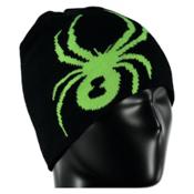 Spyder Reversible Bug Kids Hat, Black-Bryte Green, medium
