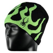 Spyder Mini Fire Toddlers Hat, Black-Bryte Green, medium