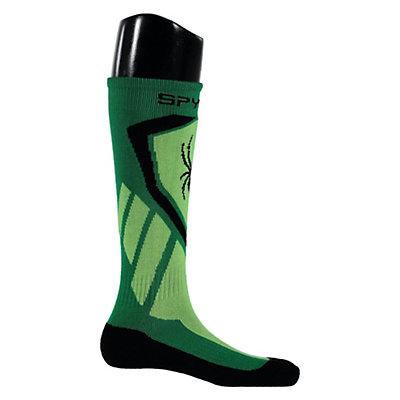 Spyder Venture Kids Ski Socks, Jungle-Bryte Green-Black, viewer